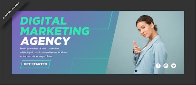 Corporate digital marketing facebook cover agentur design Premium Vektoren