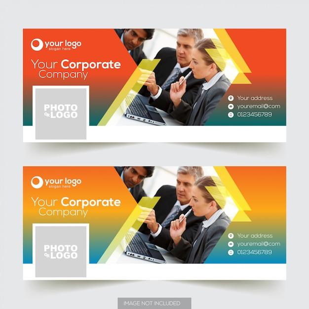 Corporate facebook timeline covervorlage Premium Vektoren