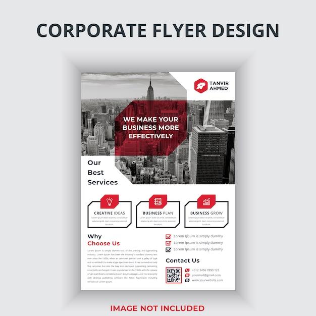 Corporate flyer design Premium Vektoren
