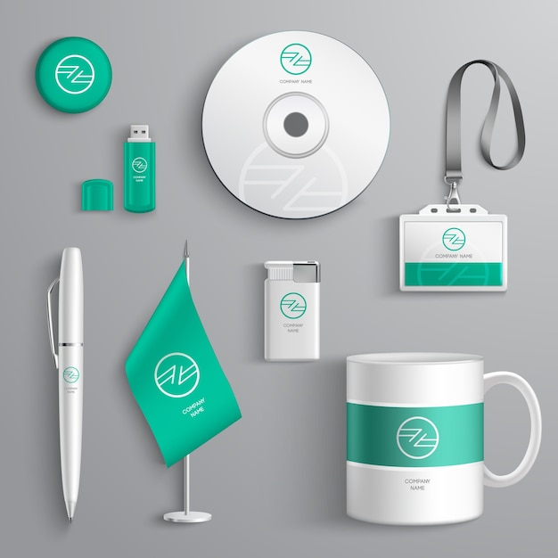 Corporate identity design Kostenlosen Vektoren