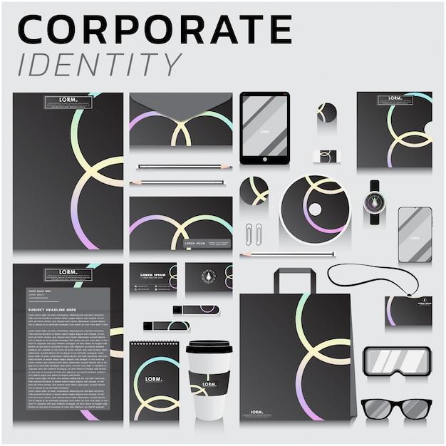 Corporate identity für business- und marketingdesign Premium Vektoren