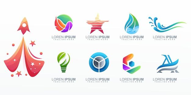 Corporate logo sammlung Premium Vektoren
