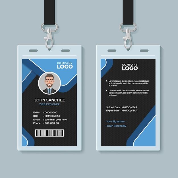 Corporate office identitätskartenvorlage Premium Vektoren