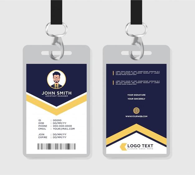 Corporate personalausweis vorlage Premium Vektoren
