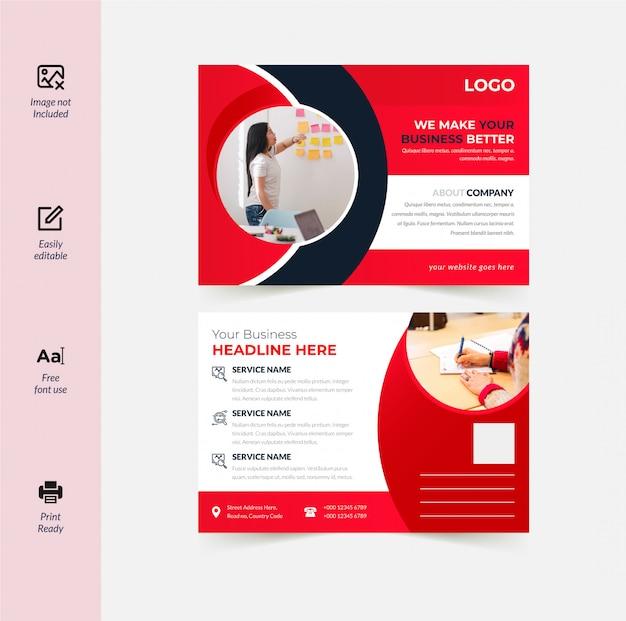 Corporate postkarten-design Premium Vektoren