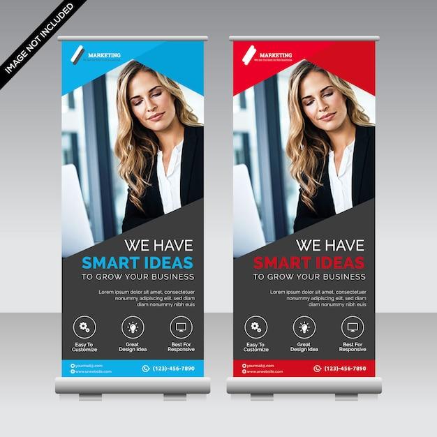 Corporate-roll-up-banner premium Premium Vektoren