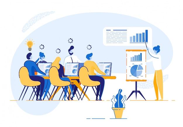 Corporate training für firmenmitarbeiter Premium Vektoren