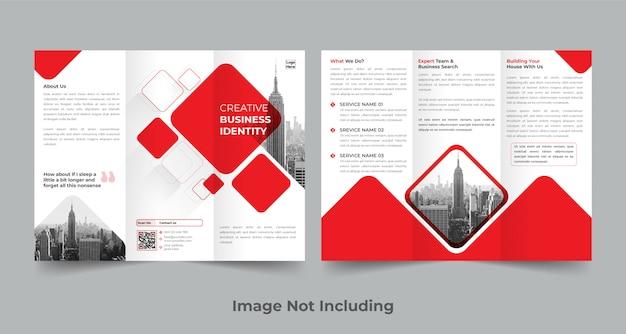 Corporate trifold broschüre vorlage Premium Vektoren