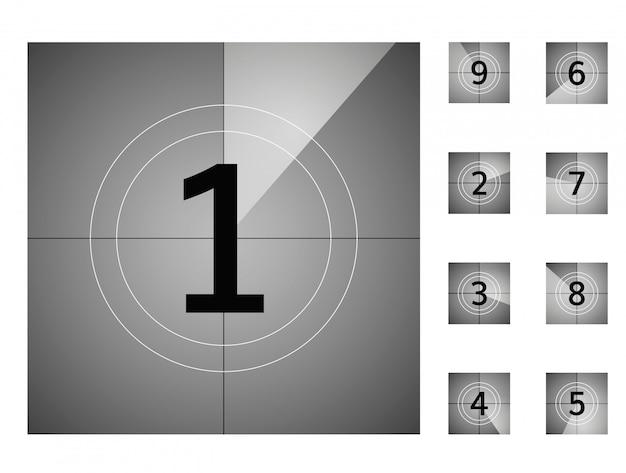 Countdown retro-countdown Premium Vektoren