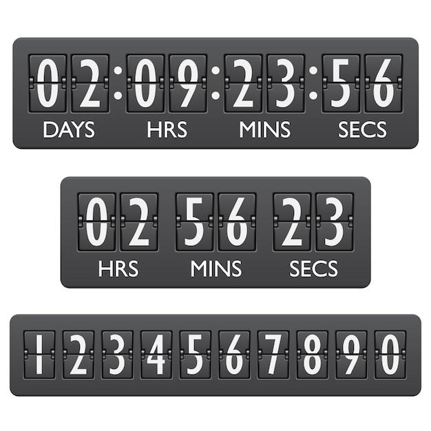 Countdown-timer-emblem Premium Vektoren