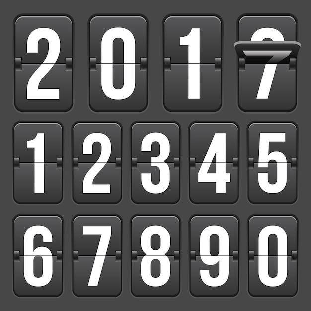 Countdown-timer mit zahlen Premium Vektoren