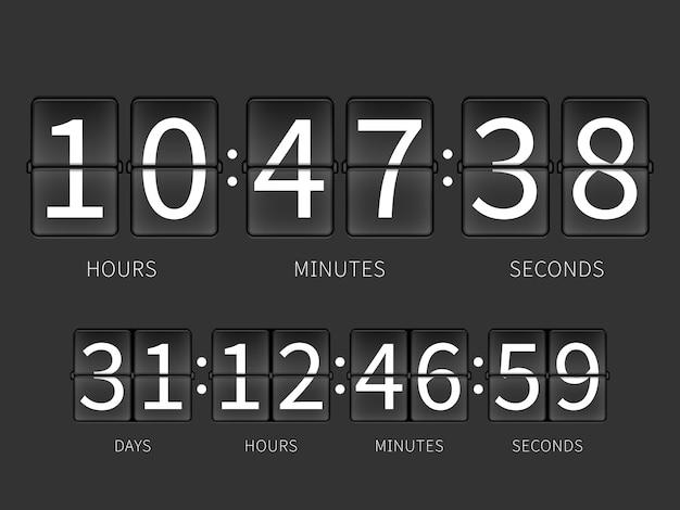 Countdown-timer umdrehen Premium Vektoren