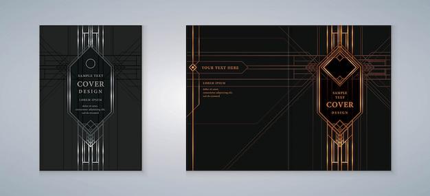Cover buch gatsby design set Premium Vektoren