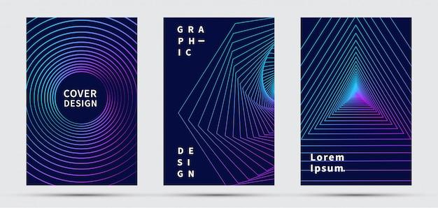 Cover design-vorlage. modernes design. Premium Vektoren