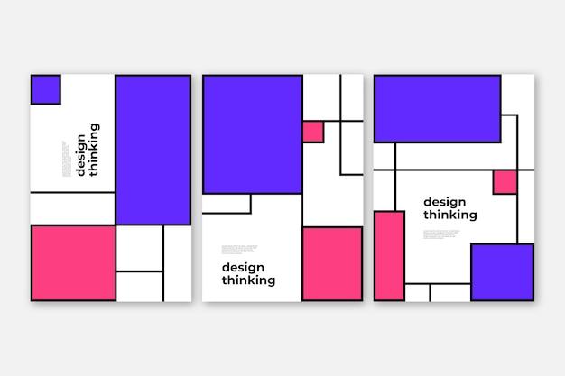 Cover kollektion im bauhaus design Kostenlosen Vektoren
