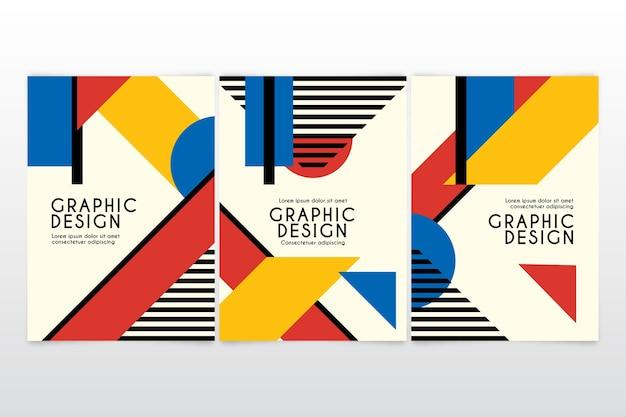 Cover-pack für grafikdesign Kostenlosen Vektoren