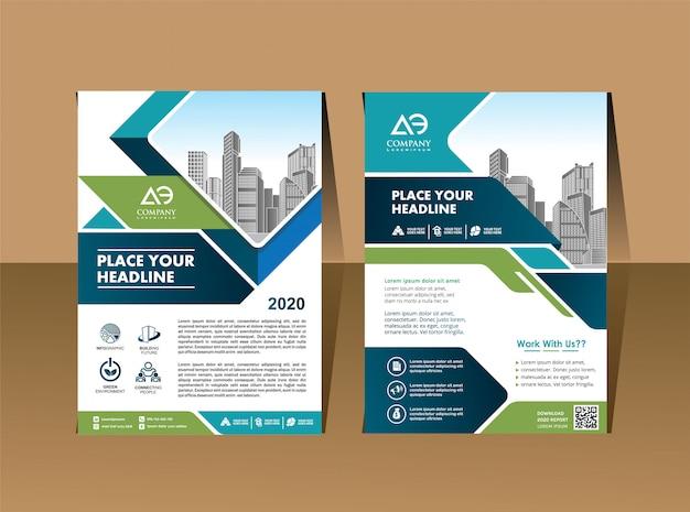 Cover template a4 size unternehmensbroschüre jahresbericht Premium Vektoren