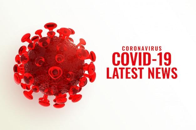 Covid-19 coronavirus neuesten nachrichten und updates hintergrund Kostenlosen Vektoren