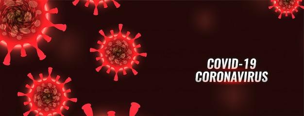 Covid-19 coronavirus rotes banner design Kostenlosen Vektoren