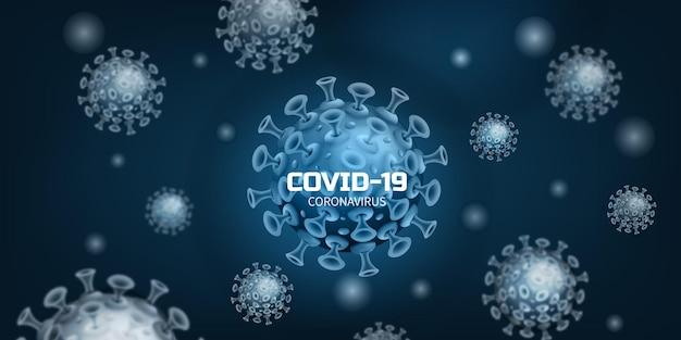 Covid corona virusinfektion oder bakterien in form einer illustration Premium Vektoren