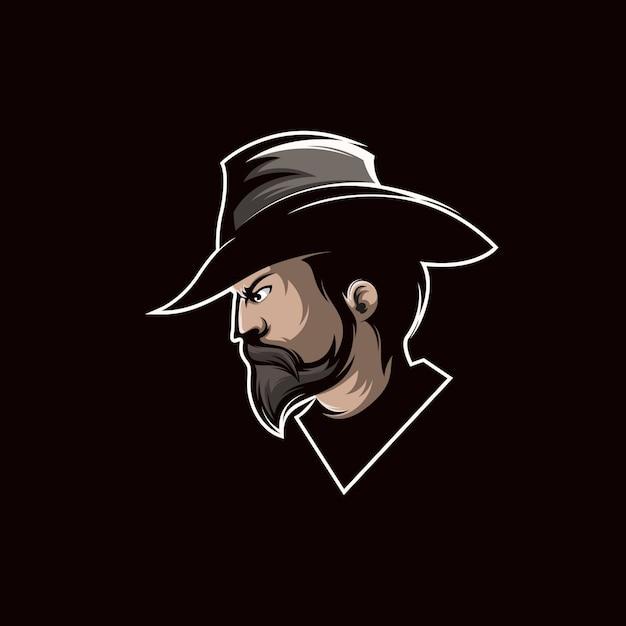 Cowboy-logo-design Premium Vektoren