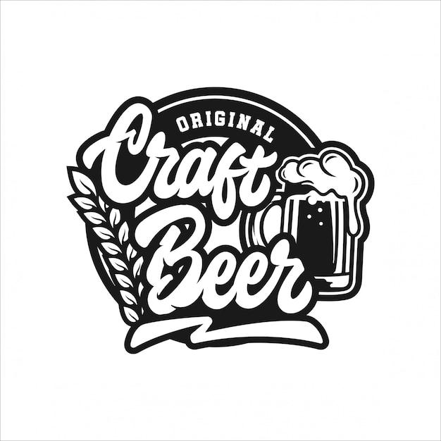 Craft beer original design logo Premium Vektoren