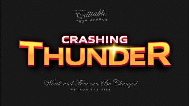 Crashing thunder bold text-effekt Kostenlosen Vektoren
