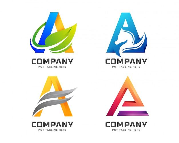 Creative letter ein logo für unternehmen Premium Vektoren