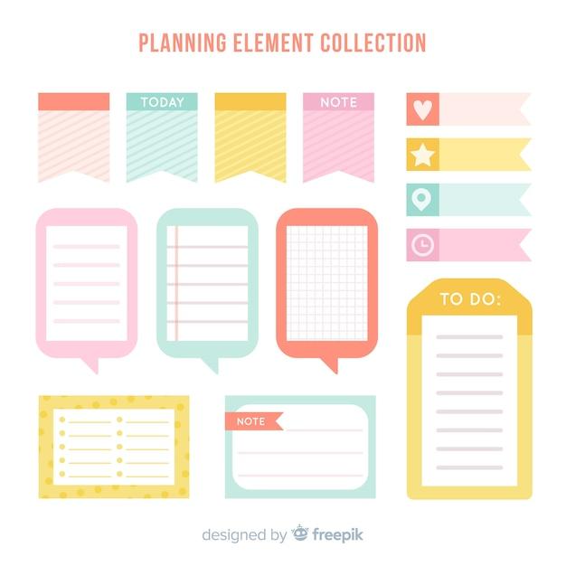 Creative-planungselementbeispiel Kostenlosen Vektoren