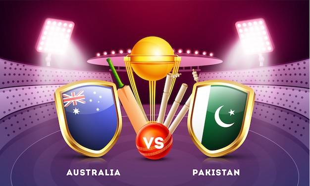Cricket championship hintergrund. Premium Vektoren