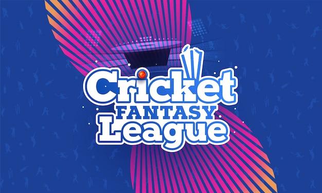 Cricket championship-konzept. Premium Vektoren