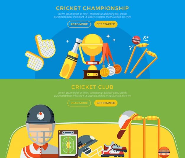 Cricket club- und meisterschaftsbanner Kostenlosen Vektoren
