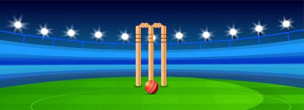 Cricket-hintergrund. Premium Vektoren