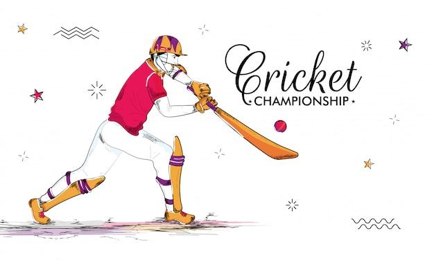 Cricket konzept hintergrund. Premium Vektoren