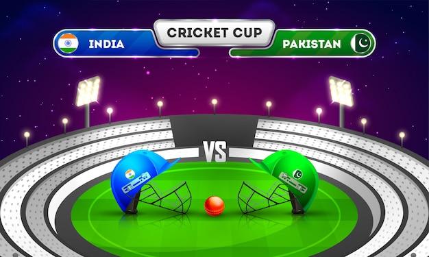 Cricket-match-turnier Premium Vektoren