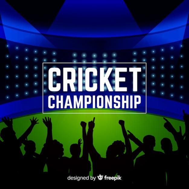 Cricket-meisterschaft hintergrund Kostenlosen Vektoren