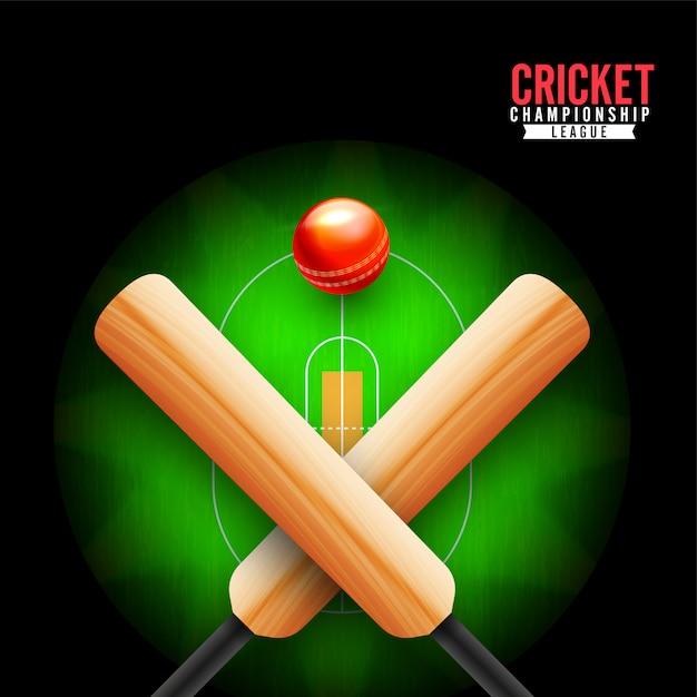 Cricket-meisterschaftskonzept. Premium Vektoren