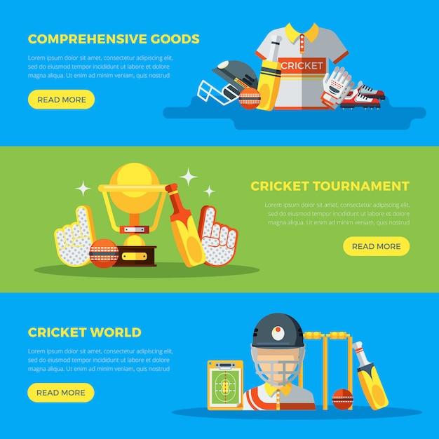 Cricket world banner Kostenlosen Vektoren