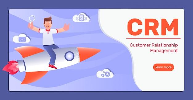 Crm - kundenbeziehungsmanagement Premium Vektoren