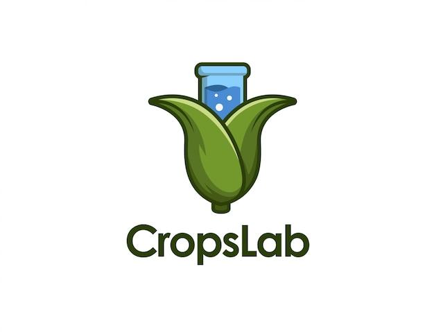Crops-becher-logo Premium Vektoren