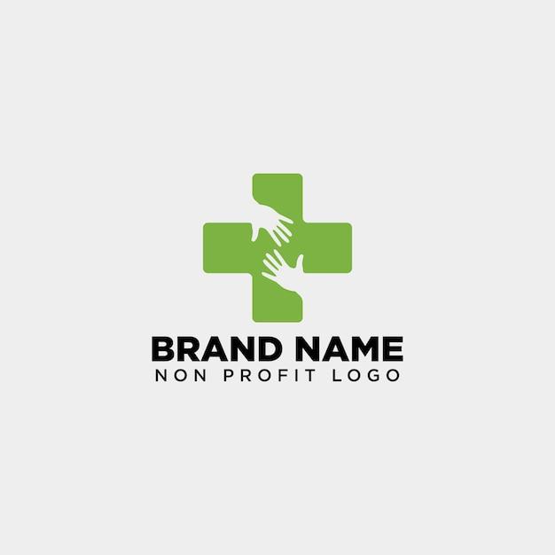 Cross hand medizinische gesundheitslogo Premium Vektoren