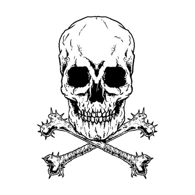 Crossbones, death skull gefahr gift. verpackung und weisses design Premium Vektoren