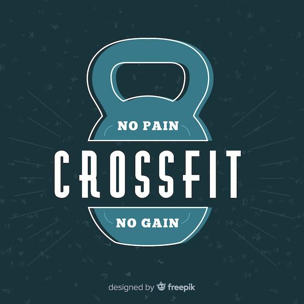 Crossfit-emblem mit motivsatz Kostenlosen Vektoren