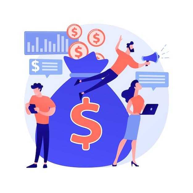 Crowdfunding abstraktes konzept Kostenlosen Vektoren
