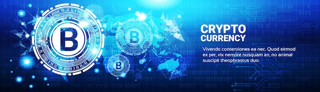Crypto currency banner Premium Vektoren