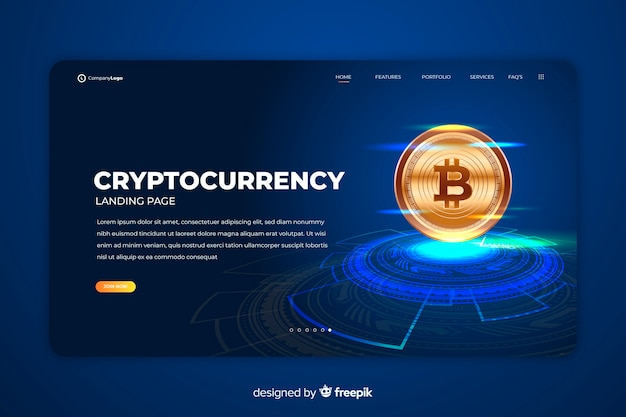 Cryptocurrency exchange-zielseitenvorlage Kostenlosen Vektoren