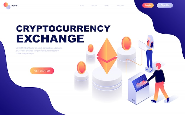 Cryptocurrency exchange Premium Vektoren