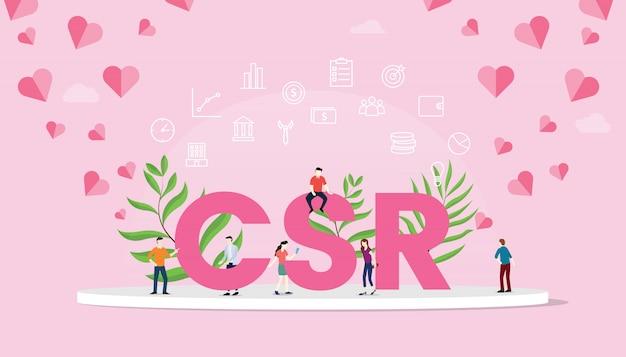 Csr corporate social responsibility-konzept Premium Vektoren