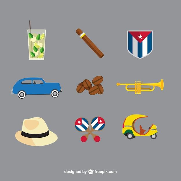 Cuban elemente Kostenlosen Vektoren