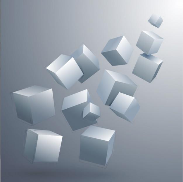 Cubes Hintergrund Design Premium Vektoren